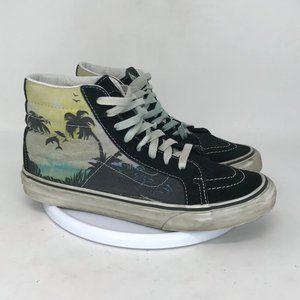 Vans Men Old SKool Black Skateboard Shoes Size 6.5